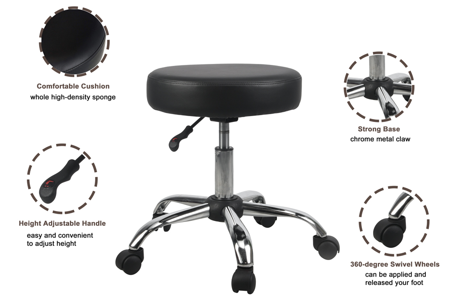ROLLING STOOL BASE WITH WHEEL