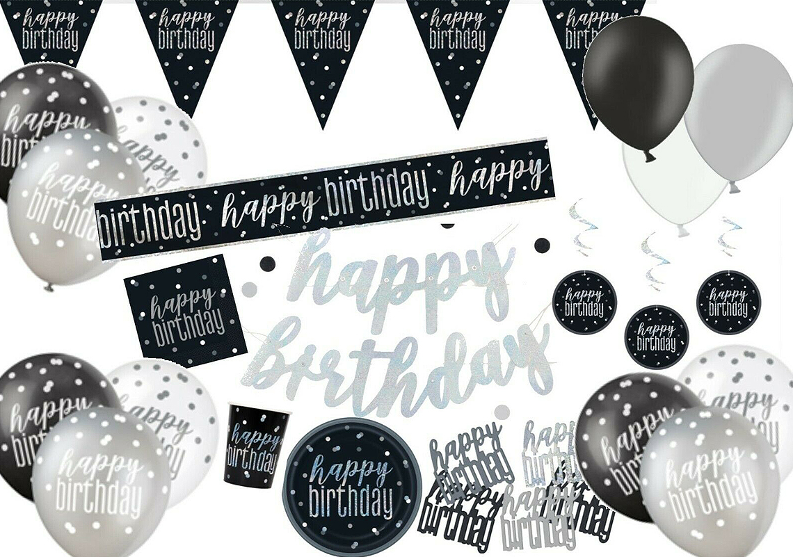 "Black /& Silver It/'s My Birthday  3/"" Badge"
