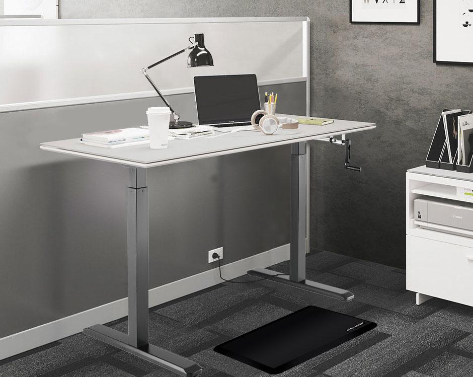 PrimeCables® Manual Sit to Stand Adjustable Desk Riser Frame