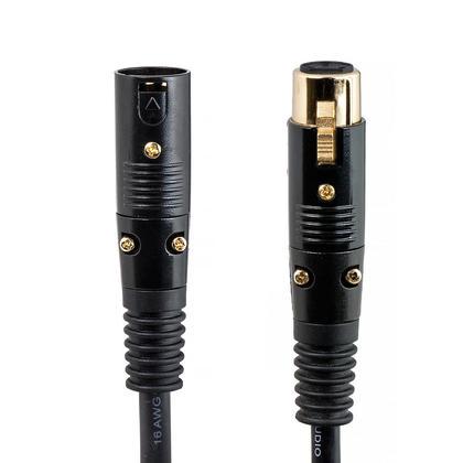 10Ft 10ft Black Monoprice 104752 Premier Series XLR Male to Female