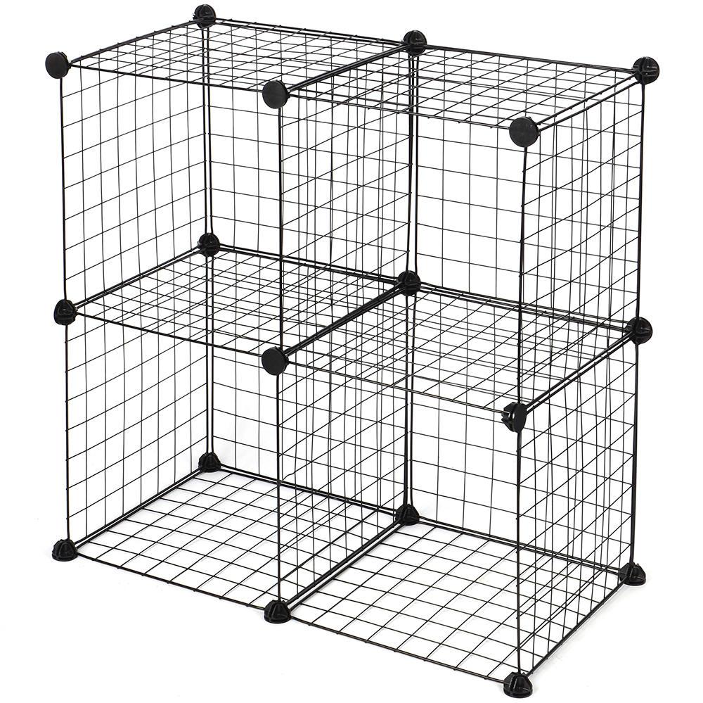 6abb8 sortwise sw 102 4b living bedroom multi use diy 4 cube wire grid organizer wardrobe organizer bookcase storage organizer sortwise