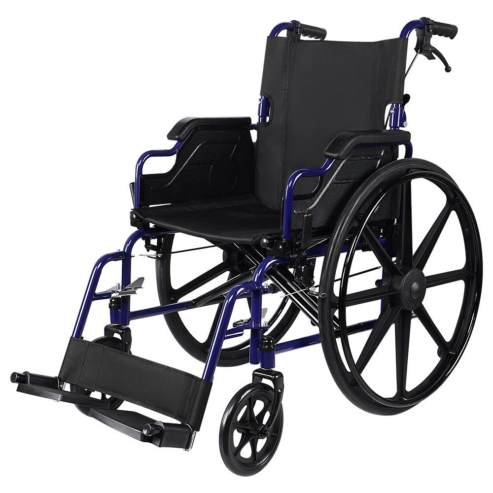 5462b livingbasics lb bme home health care aid safety lightweight wheelchair transport chair with swing away footrests 18 seat livingbasics
