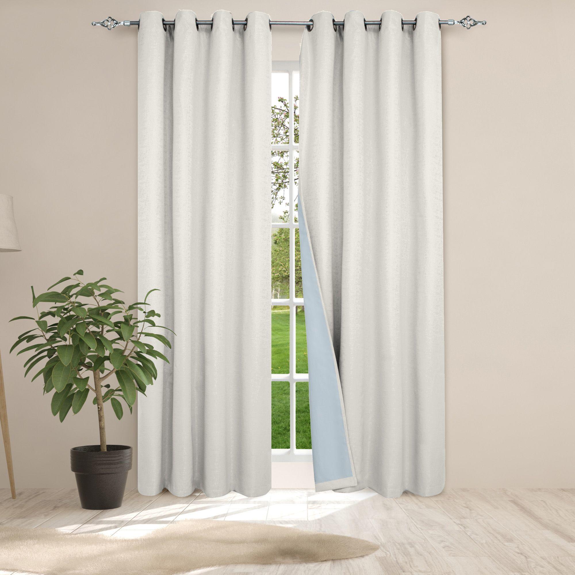 Dd407 safdie co lvth 51325zec2z01 white curtains woven jacquard curtain w tpu panel 84l ultimate blackout white