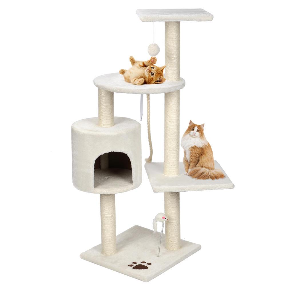 54352 livingbasics lb pct 07 cat 44 scratching cat tree multi level activity center kitty condo furniture livingbasics