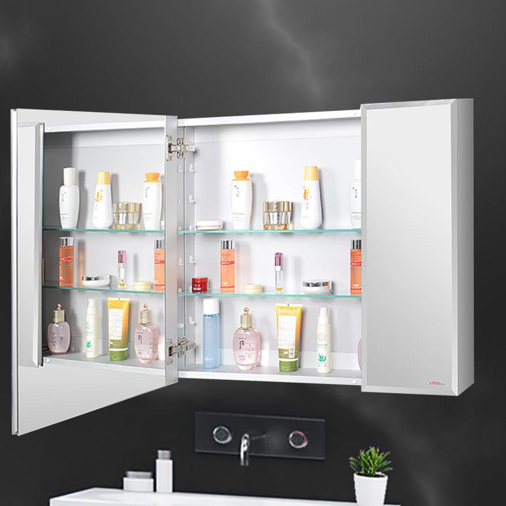 42de8 livingbasics lvb mc3026q furnitures cabinets aluminum bathroom medicine cabinet double door wall mounted cabinet with mirror livingbasics