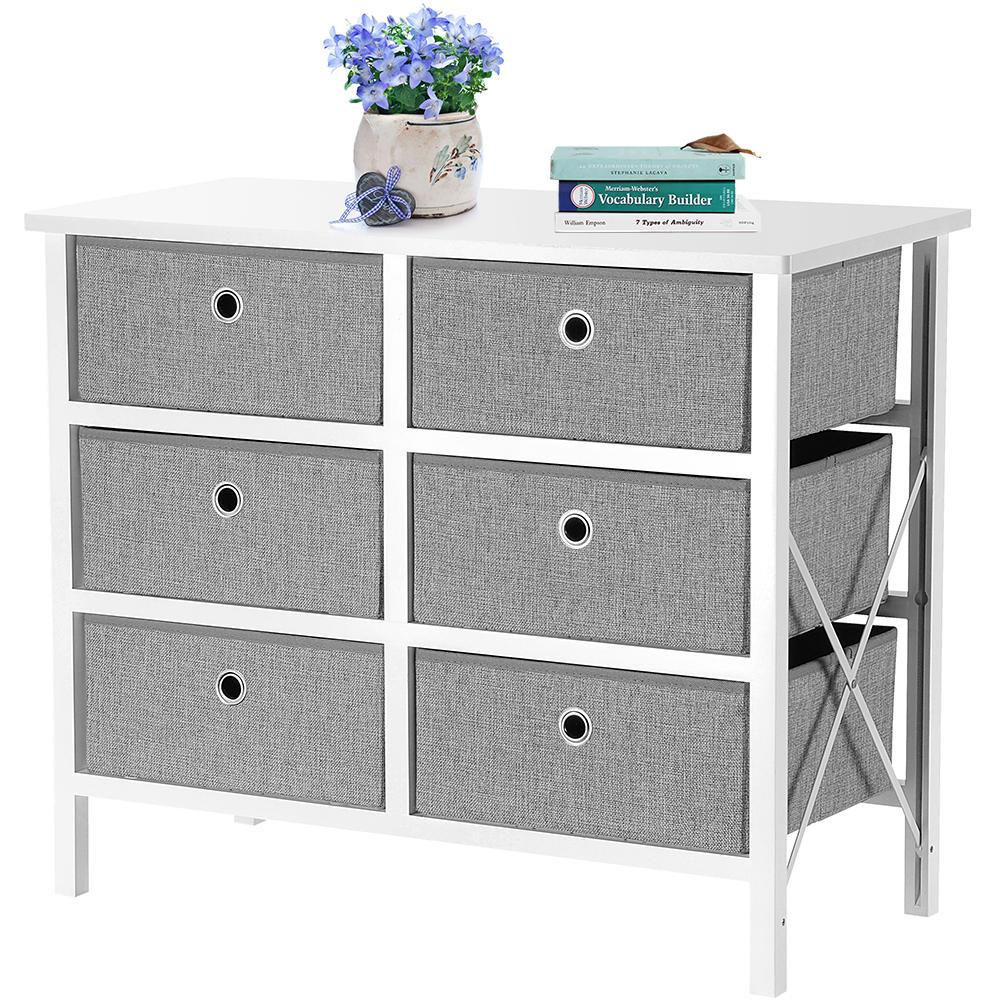 59e6e livingbasics sw jxd 005b furnitures cabinets fabric 5 drawer storage organizer unit with fabric bin storage unit sortwise