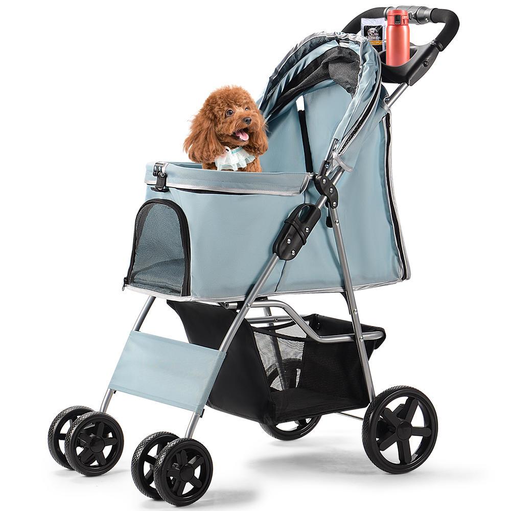 583bd livingbasics lb pct sp04 dog beds mat carriers crates 4 wheel dog pet stroller dog cat carrier livingbasics